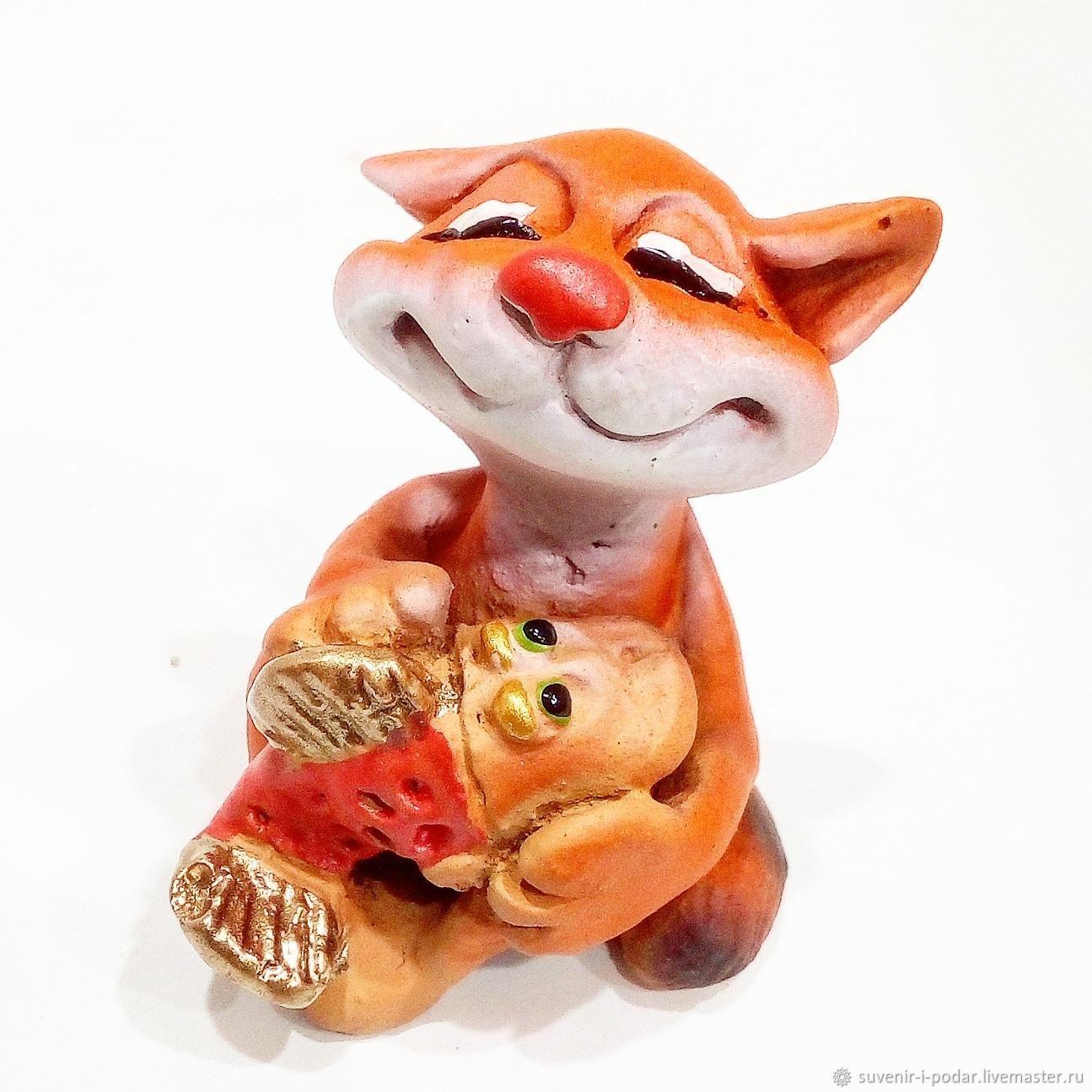 Figure cat touching, Figurines, Feodosia,  Фото №1