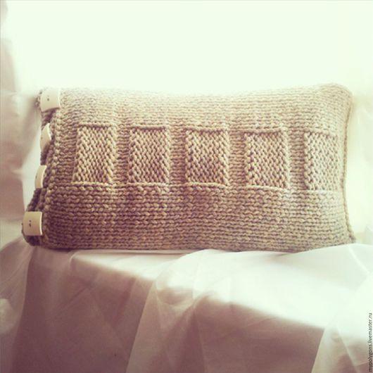 Текстиль, ковры ручной работы. Ярмарка Мастеров - ручная работа. Купить интерьерная  подушка (чехол). Handmade. Комбинированный, чехол на подушку