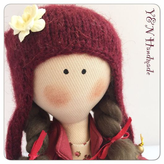 Куклы тыквоголовки ручной работы. Ярмарка Мастеров - ручная работа. Купить Куколка Бордовая конфетка. Handmade. Кукла ручной работы