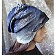 Шапки ручной работы. Ярмарка Мастеров - ручная работа. Купить шапка валяная ЗИМНИЙ ВЕЧЕР. Handmade. Шапка зимняя