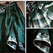 Одежда ручной работы. Ярмарка Мастеров - ручная работа Бохо юбка изумрудная. Handmade.