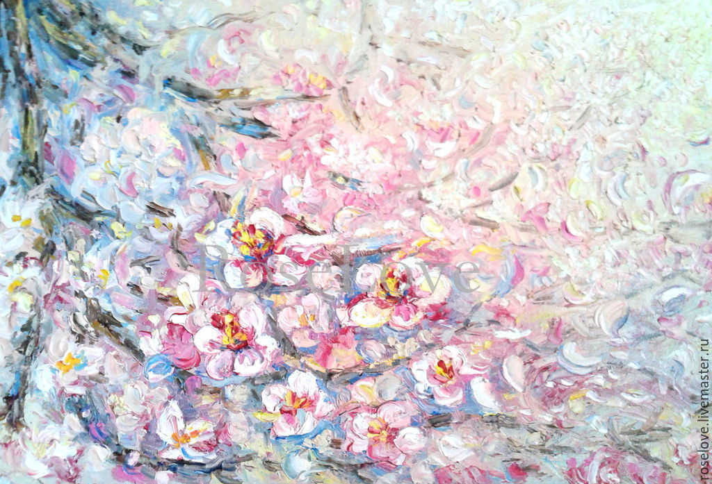 Oil Painting The Flight Of Cherry Blossom 30 45 Catherine