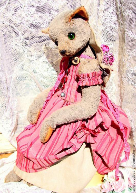 """Мишки Тедди ручной работы. Ярмарка Мастеров - ручная работа. Купить Кошка""""Роуз"""" стиль Жуи, пастораль. Handmade. Коралловый, жуи"""