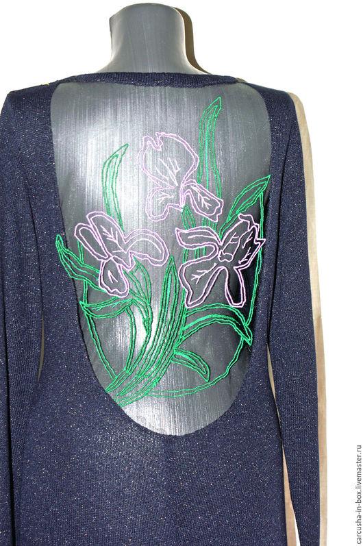 Платья ручной работы. Ярмарка Мастеров - ручная работа. Купить платье с вышивкой на спине. Handmade. Однотонный, длинное платье