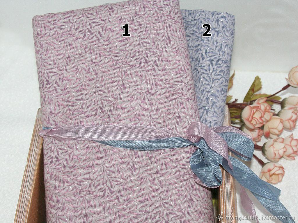 Корейская ткань веточки серая, Ткани, Воронеж,  Фото №1