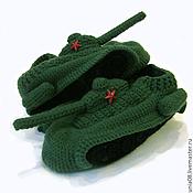 Обувь ручной работы. Ярмарка Мастеров - ручная работа Тапки танки. Handmade.