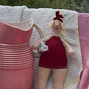 Куклы и игрушки ручной работы. Ярмарка Мастеров - ручная работа Купальщица в красном. Handmade.