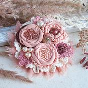"""Украшения ручной работы. Ярмарка Мастеров - ручная работа """"Мадлен"""" брошь бохо цветок коралловый розовый украшение. Handmade."""