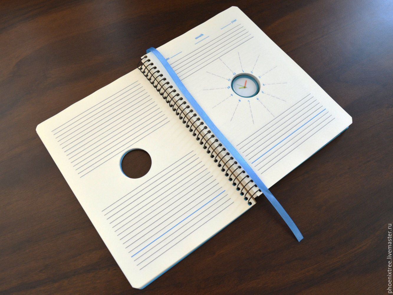 Notepad-calendar with clock Watch Diary blue – shop online on ...