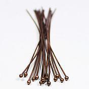 Материалы для творчества handmade. Livemaster - original item Pin with ball 60 mm 10 PCs copper. Handmade.