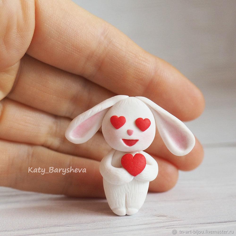 Brooch 'Funny Bunny in love', Brooches, Sochi,  Фото №1