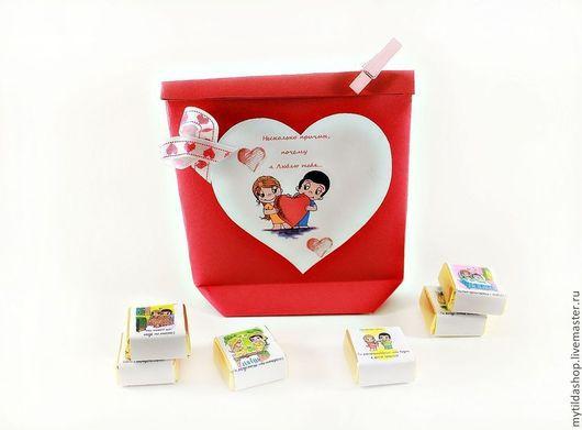 """Подарки для влюбленных ручной работы. Ярмарка Мастеров - ручная работа. Купить Набор конфет """"Love Is"""". Handmade. Признание в любви"""