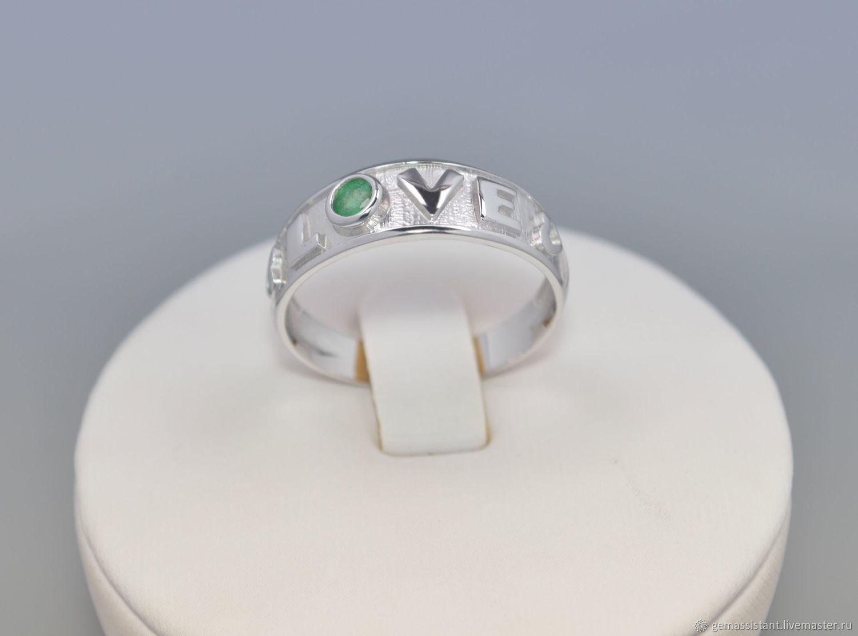 Love, кольцо с натуральным самоцветом, серебро 925 пробы, Кольца, Москва,  Фото №1