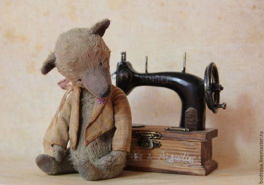 Мишки Тедди ручной работы. Ярмарка Мастеров - ручная работа. Купить Игнат. Handmade. Серый, подарок, металлический гранулят