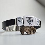 Украшения handmade. Livemaster - original item Leather bracelet mini regaliz