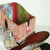 """Для дома и интерьера ручной работы. Ярмарка Мастеров - ручная работа Подставка для косметики """"Арабески"""". Handmade."""