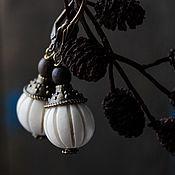 Украшения ручной работы. Ярмарка Мастеров - ручная работа Белая ольха - серьги. Handmade.