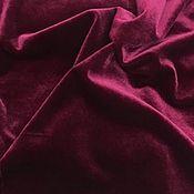 Ткани ручной работы. Ярмарка Мастеров - ручная работа Бордовый бархат стрейч (цена за метр). Handmade.