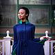 Платья ручной работы. Классическое Оксфордское платье. Таня Снеж-Лебедева @snezh. Ярмарка Мастеров. Платье в пол, шелковое платье