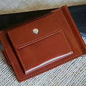 Сумки и аксессуары handmade. Livemaster - original item Standart Pro genuine leather money clip (brown). Handmade.