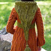 Одежда ручной работы. Ярмарка Мастеров - ручная работа Авторский кардиган-пальто из толстой пряжи с капюшоном. Handmade.
