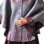 Одежда ручной работы. Ярмарка Мастеров - ручная работа Серое пончо. Handmade.