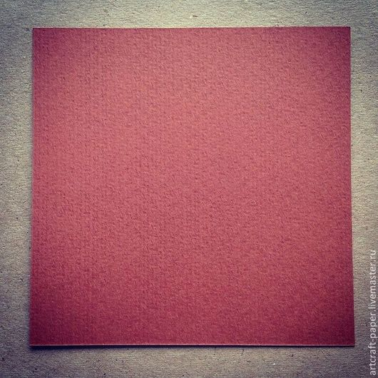 Открытки и скрапбукинг ручной работы. Ярмарка Мастеров - ручная работа. Купить Бумага для открыток. Терракот. Handmade. Бордовый, бумага