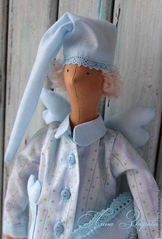 Детская ручной работы. Ярмарка Мастеров - ручная работа. Купить Сонный ангел. Handmade. Голубой, сонный ангел, подарок младенцу