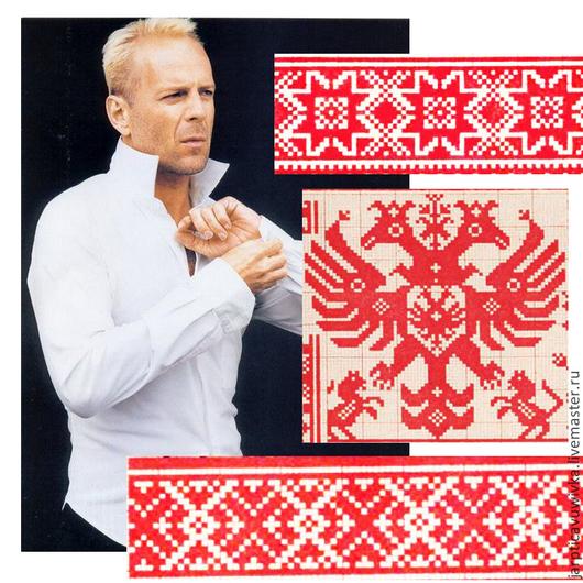 Для мужчин, ручной работы. Ярмарка Мастеров - ручная работа. Купить Рубашка мужская офисная с вышивкой русский орнамент крестик. Handmade.