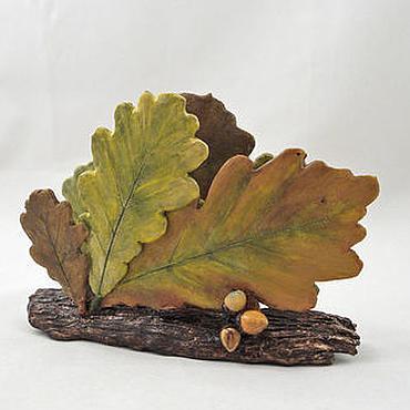 Для дома и интерьера ручной работы. Ярмарка Мастеров - ручная работа Осенний дуб - салфетница. Handmade.