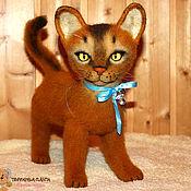 """Куклы и игрушки ручной работы. Ярмарка Мастеров - ручная работа Абиссинский кот """"Персик"""". Handmade."""