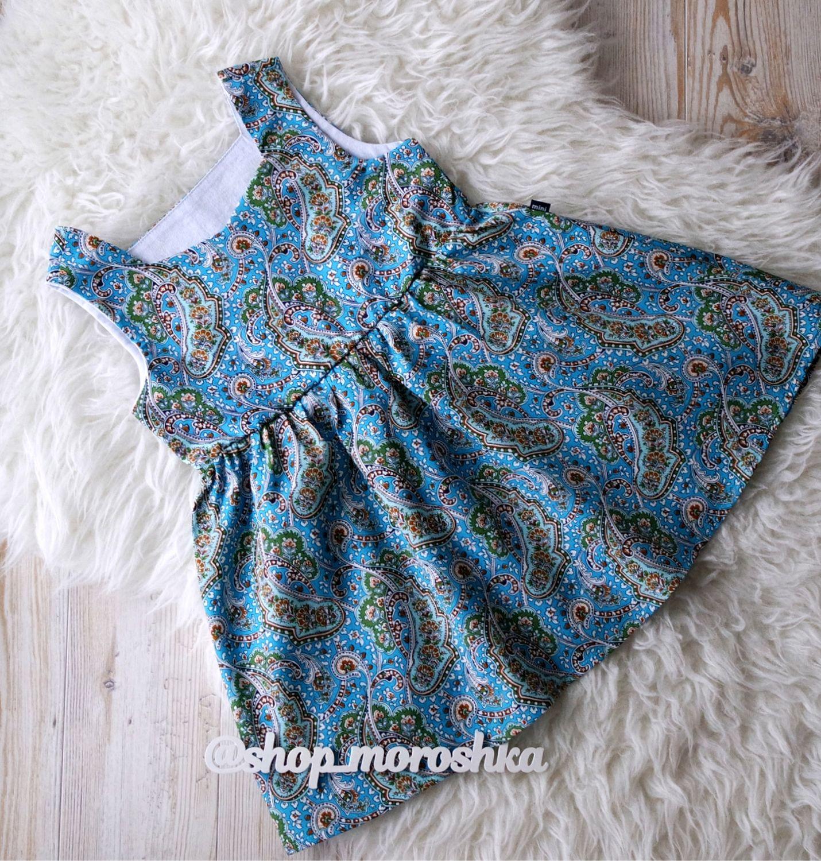 Платье для девочки из хлопка с узорами