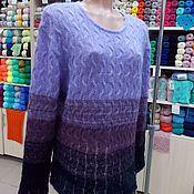 """Одежда ручной работы. Ярмарка Мастеров - ручная работа Свитер вязаный женский """"Черничный микс"""". Handmade."""