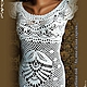 """Платья ручной работы. Ярмарка Мастеров - ручная работа. Купить платье вязаное ,кружевное """"Ах,эта белая сирень"""". Handmade."""