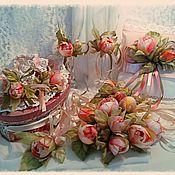 """Свадебный салон ручной работы. Ярмарка Мастеров - ручная работа Свадебный комплект """"17 роз на счастье!"""". Handmade."""