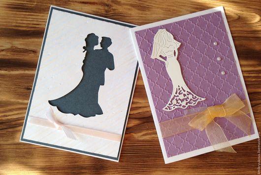 Открытки к другим праздникам ручной работы. Ярмарка Мастеров - ручная работа. Купить Свадебная открытка. Handmade. Серый, открытка к свадьбе