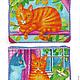 Женские сумки ручной работы. летняя сумка Кошки в лукошке-2: рыжий кот. картИринки • сумки с картинками. Интернет-магазин Ярмарка Мастеров.