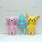 Куклы и игрушки handmade. Livemaster - original item Set of toys for the baby-bear, Bunny, drop. Handmade.