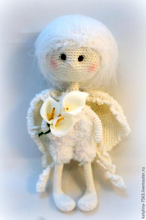 Сказочные персонажи ручной работы. Ярмарка Мастеров - ручная работа. Купить Ангел Любовь. Handmade. Белый, ангел-хранитель, любовь