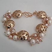 Украшения handmade. Livemaster - original item Bracelet made of holfeld and pearls. Handmade.