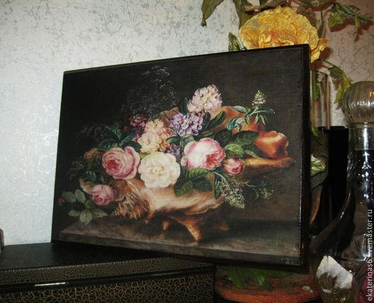 Картины цветов ручной работы. Ярмарка Мастеров - ручная работа. Купить Настенное панно. Handmade. Коричневый, панно, настенное панно