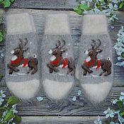 Аксессуары handmade. Livemaster - original item Wool mittens with the addition of goat down. Handmade.