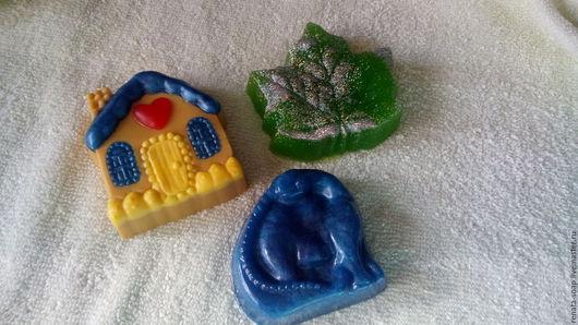 Мыло ручной работы. Ярмарка Мастеров - ручная работа. Купить Набор мыла ручной работы №1. Handmade. Синий, красный