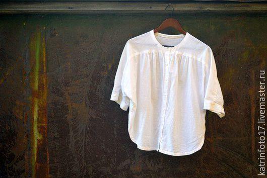 """Блузки ручной работы. Ярмарка Мастеров - ручная работа. Купить Сорочка """"Воздушная"""". Handmade. Белый, oversize, летняя рубашка"""