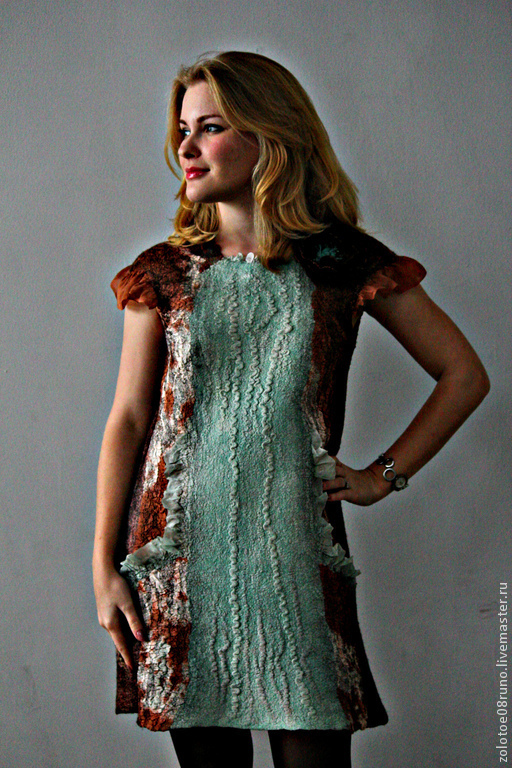"""Платья ручной работы. Ярмарка Мастеров - ручная работа. Купить Платье """"Мint caramel"""".. Handmade. Коричневый, платье коктейльное"""