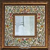 Для дома и интерьера handmade. Livemaster - original item A mirror of Prosperity Painting pottery Painting ceramic tile. Handmade.