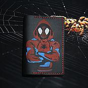 """Обложки ручной работы. Ярмарка Мастеров - ручная работа Обложка для паспорта """" Человек -паук"""". Handmade."""