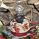 """Экстерьер и дача ручной работы. Ярмарка Мастеров - ручная работа. Купить Лампа керосиновая """"Шиповничек"""". Handmade. Разноцветный, кантри"""