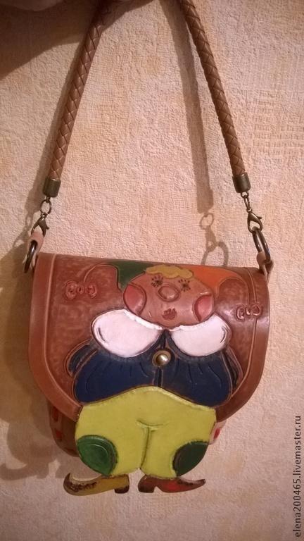 Женские сумки ручной работы. Ярмарка Мастеров - ручная работа. Купить детская сумочка из натуральной кожи.(тиснение по коже). Handmade.