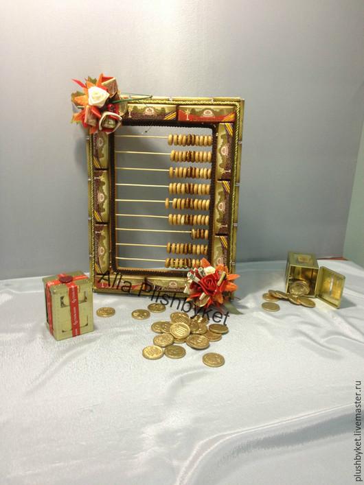 Персональные подарки ручной работы. Ярмарка Мастеров - ручная работа. Купить Счёты для бухгалтера из шоколада. Handmade. Разноцветный, бухгалтерские счеты